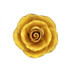 Rose dorée en pastillage 9 cm Gatodéco
