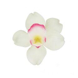 Orchidée blanche et rose pastillage Patisdécor
