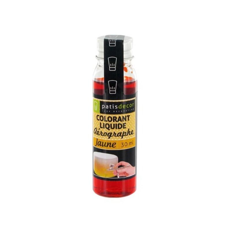 Colorant alimentaire liquide aérographe jaune 30 ml