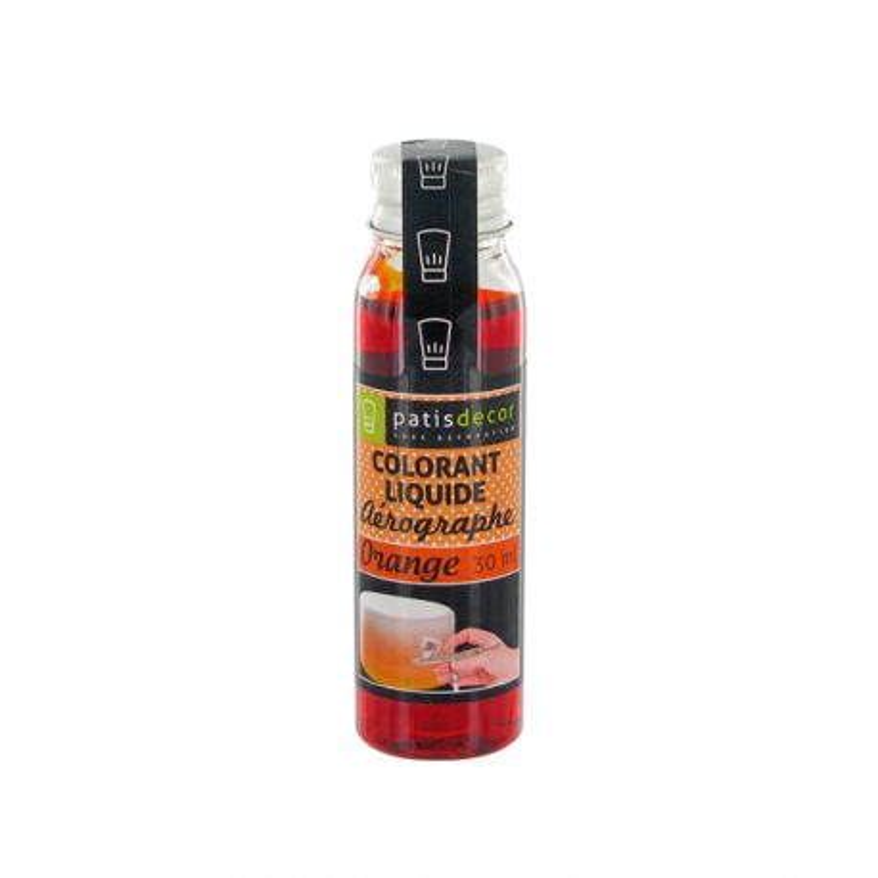 Colorant alimentaire aérographe orange 30 ml Patisdécor