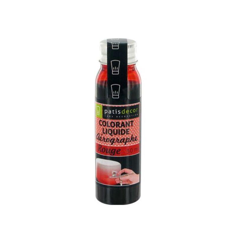 Colorant alimentaire aérographe rouge 30 ml Patisdécor