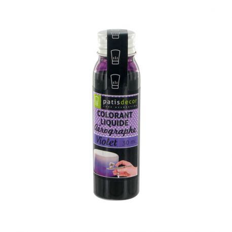 Colorant alimentaire aérographe violet 30 ml Patisdécor