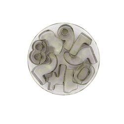 Emporte-pièce chiffres 3 cm inox (x10)