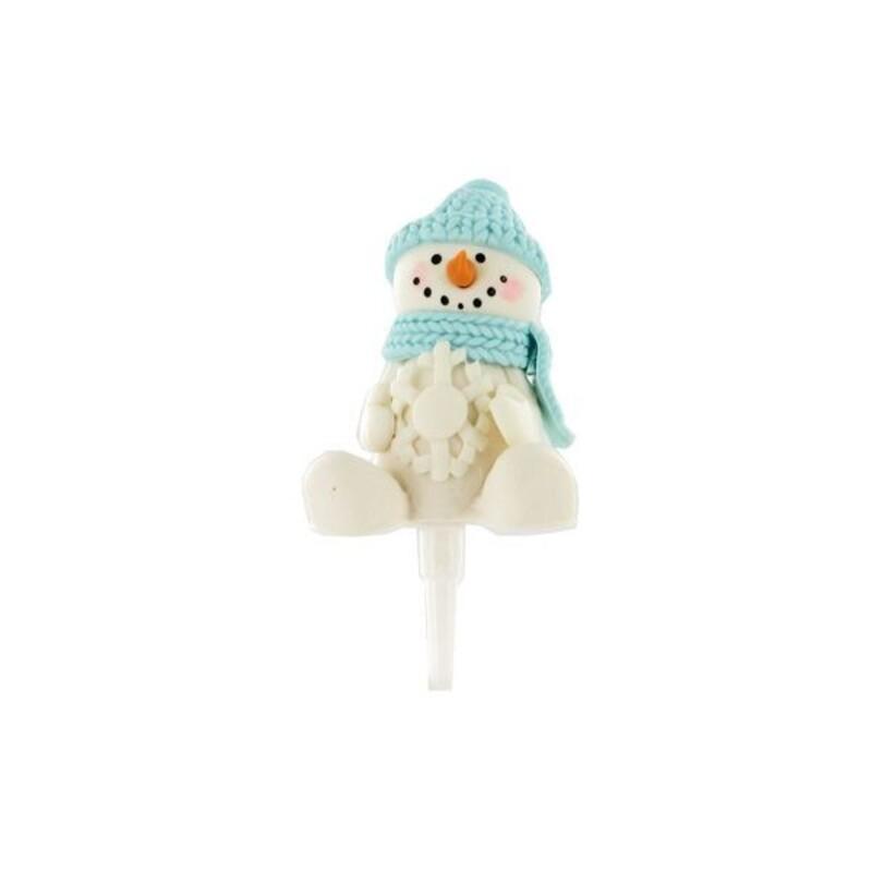 Bonhomme de neige assis Gatodéco