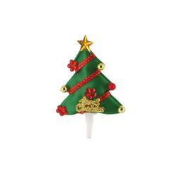 Sapin de Noël décoré sur pique