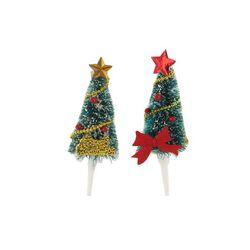 2 sapins de Noël sur pique
