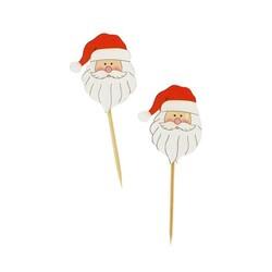 Tête de Père Noël sur pique (x50)