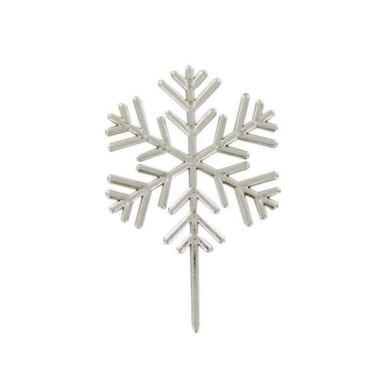 Flocon de neige sur pique Gatodéco (x50)