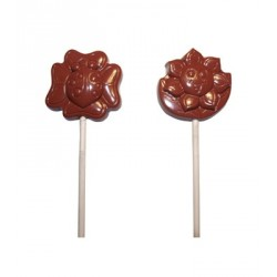 Moule Chocolat Sucettes Fleurs coccinelles