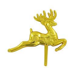 Grand renne doré sur pique Patisdécor (x50)
