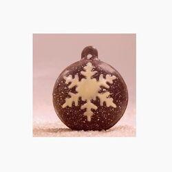 Moule chocolat 6 Boules de Noël flocons