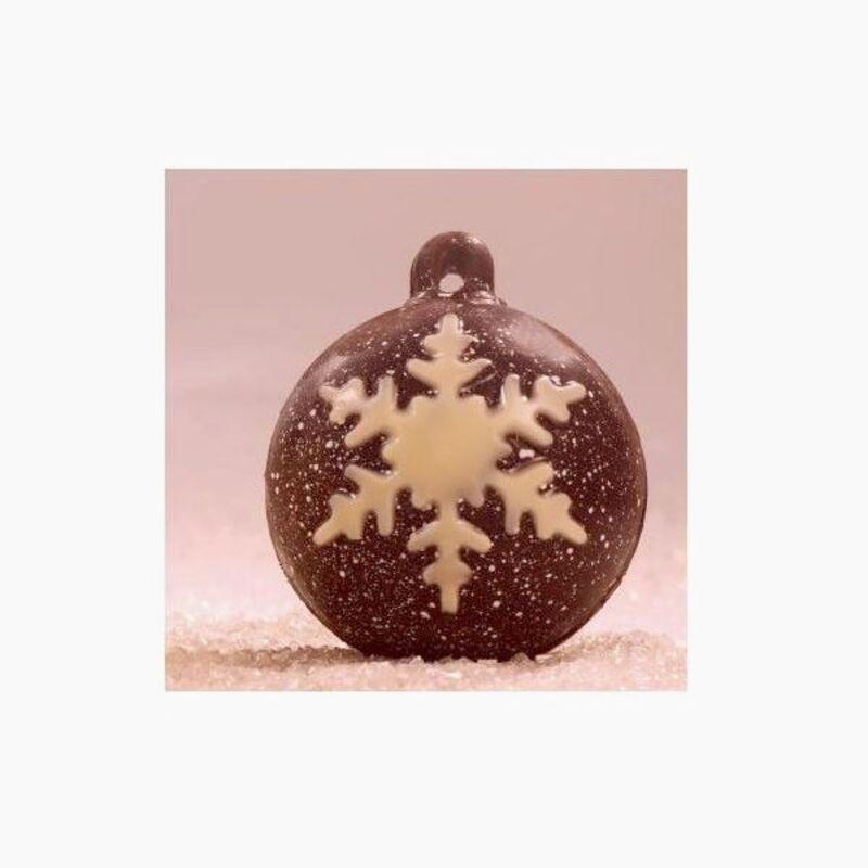 moule chocolat boule de no l flocon en poly thyl ne cerf dellier. Black Bedroom Furniture Sets. Home Design Ideas