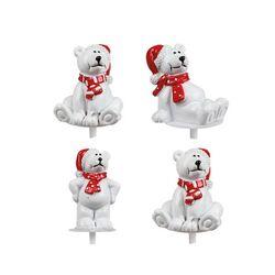 Ours polaires assortis sur pique (x64)