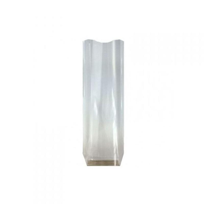 Sac polypropylène fond carton 10 x 22 cm (x100)