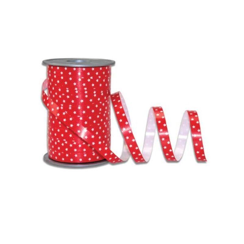 Bolduc Etoiles rouge 10 mm (200 m)