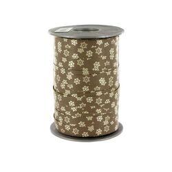 Bolduc Flocons gris 10 mm (200 m)