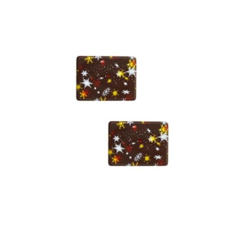 Rectangle en chocolat tricolore (x56)