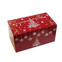 Boîte à bûche Flocs (x25)