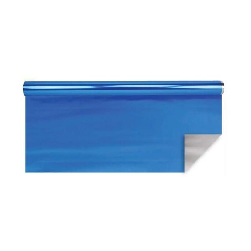 Papier polypro métal bleu 0,70 x 25 m