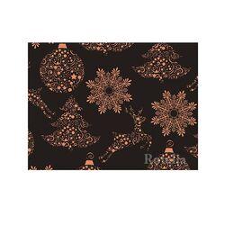 Papier cadeau noir/cuivre 0,70 x 25 m