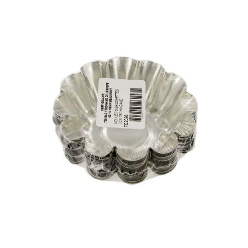 Moule à briochette acier 7 cm Technicake (x6)