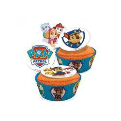 Mini disques cupcakes Pat Patrouille assortis 3,4 cm (x16)