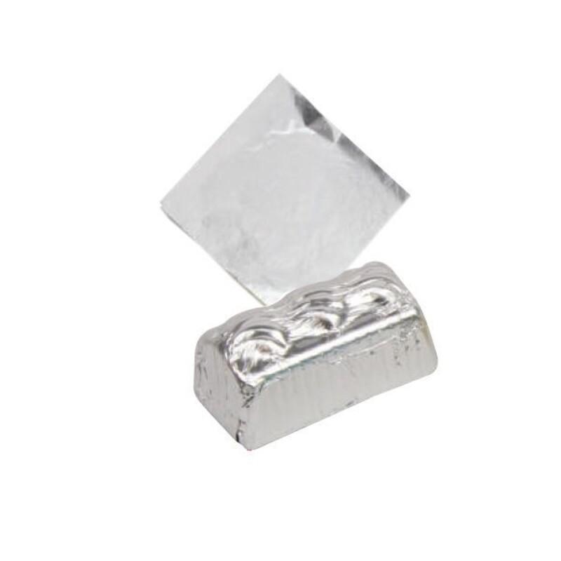 Carrés alu argent 8 cm (x1000)