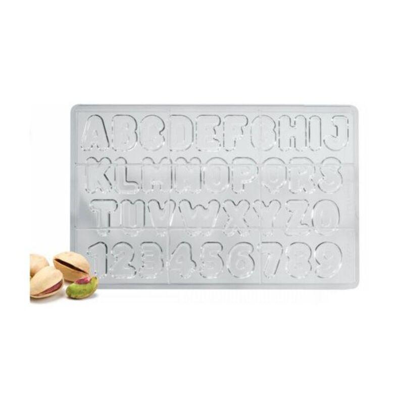Moule chocolat lettres et chiffres