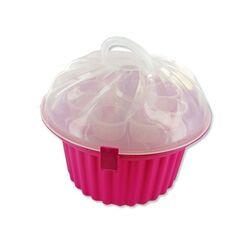 Boîte transport cupcakes rose