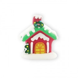 Chalet de Noël en sucre