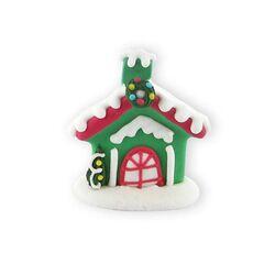 Décors comestibles Chalet de Noël (x24)