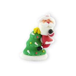 Décor comestible Père Noël sur sapin