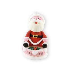 Décor comestible Père Noël bouche ouverte