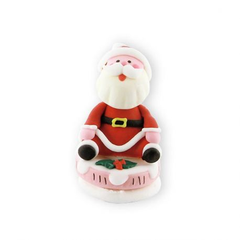 Père Noël bouche ouverte en sucre