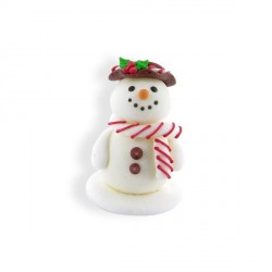 Décor comestible Bonhomme de neige souriant