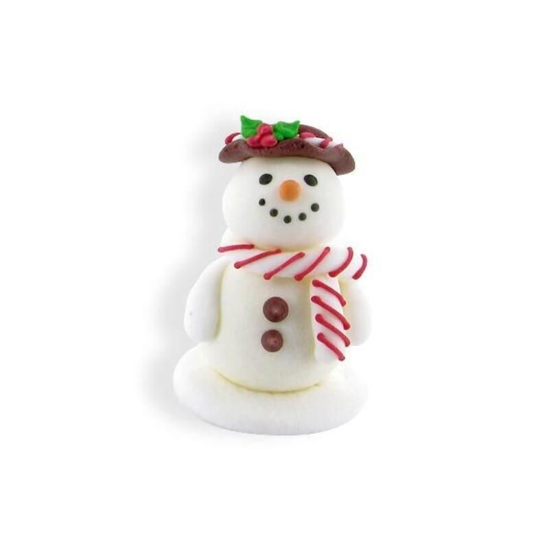 Bonhomme de neige souriant en sucre