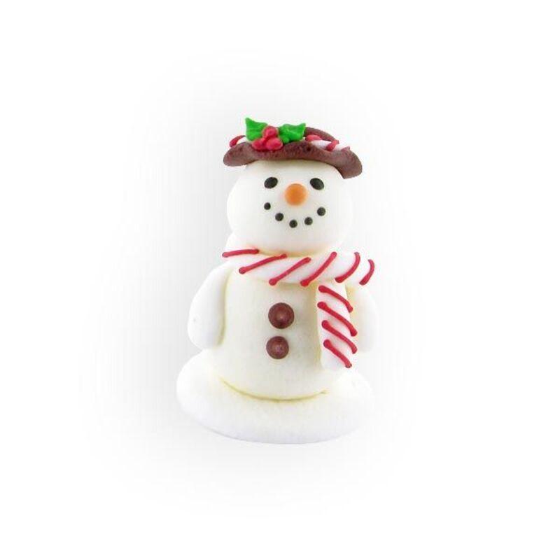 Bonhomme de neige souriant en sucre (x20)