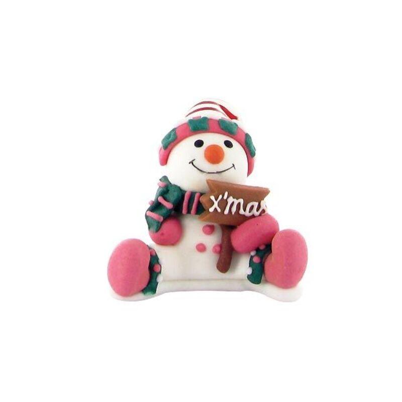 Bonhomme de neige assis en sucre