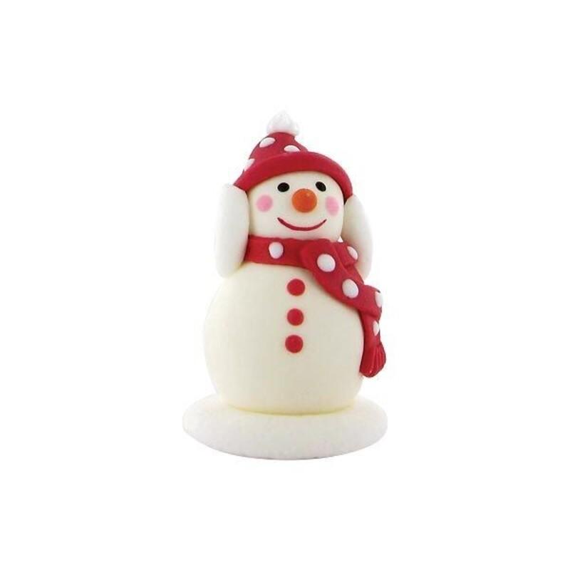 Bonhomme de neige bras levés en sucre