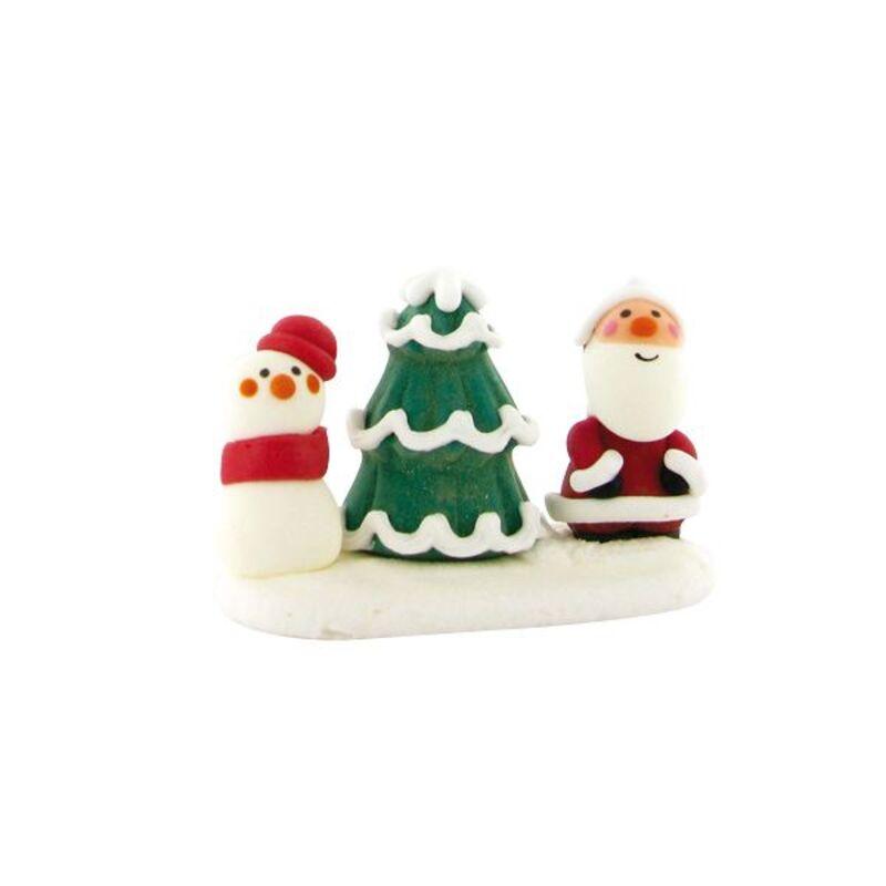 Sapin et sujet de Noël en sucre