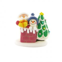 Décors comestibles Père Noël cheminée (x24)