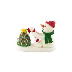 Bonhomme de neige et sapin en sucre