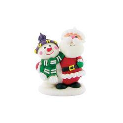 Décors comestibles Père Noël et bonhomme de neige (x24)