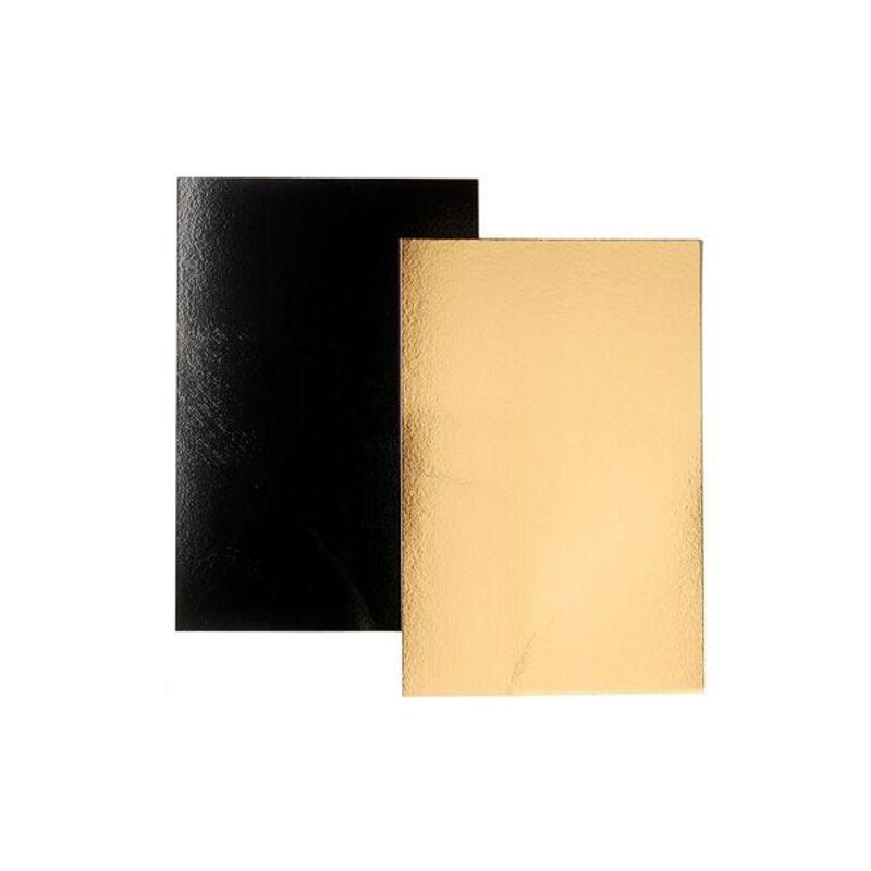Rectangle carton Noir / Or 60 x 40 cm (x25)