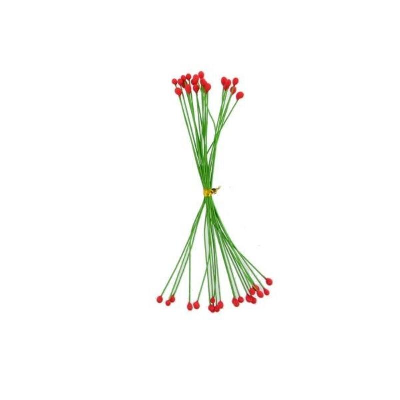 Pistils pour fleurs pâte à sucre rouges (x20)