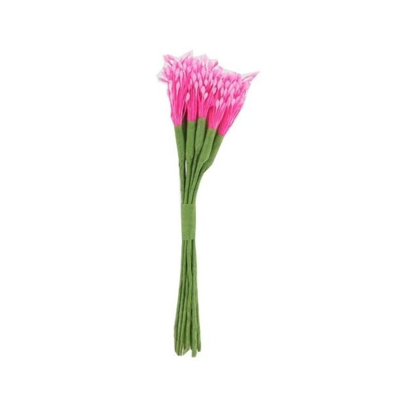 12 bouquets de pistils roses