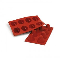 Moule silicone 8 grands cônes savarins