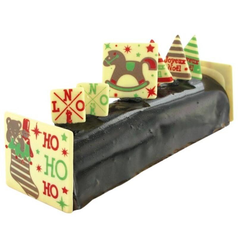 """Kit décors de bûche en chocolat """"Jouets"""""""