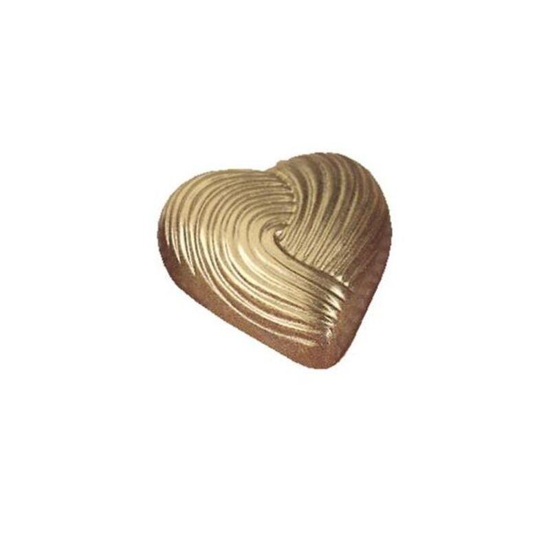 Moule chocolat pralinés Coeurs striés