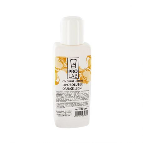 Colorant alimentaire liposoluble orange 180 ml